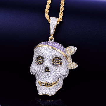 Gold 2 hip Hop Pirate Chain Necklace