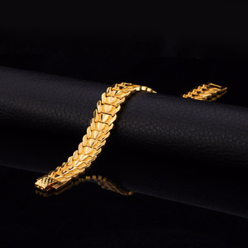 Platinum 14k Gold Heart of a Man Pharaoh Wristband Bracelet