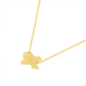 USA Map Heart of Texas Shape Stainless Steel Silver 14k Gold Pendant Chain Necklace