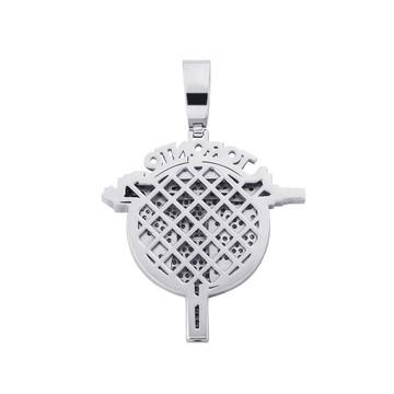 14k Gold 925 Silver Bling Toronto UZI Gun Hip Hop Pendant Chain Necklace
