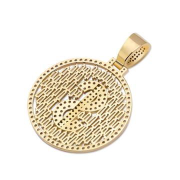 Drip Baguette Big Boy Money Dollar Sign Hip Hop Pendant Chain Necklace