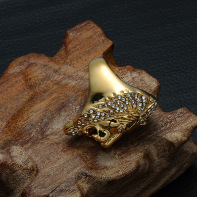 Iced Lion Ring