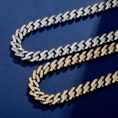 14k Gold .925 Silver Miami Cuban Link Bling Chain