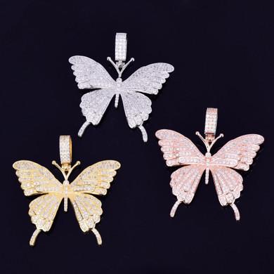Lab Diamond Micro Pave Beautiful Butterfly Chain