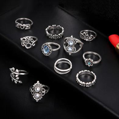 Bohemian 11 Piece Ring Set