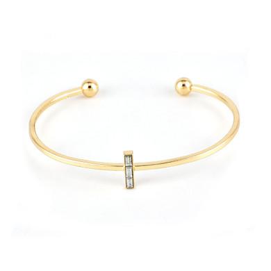 Gold Moon Leaf Crystal Open Cuff 5 Piece Bracelet Jewelry Set
