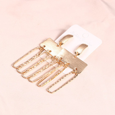 Ladies Exaggerated Personality Girl Gold Earrings Fashion Set
