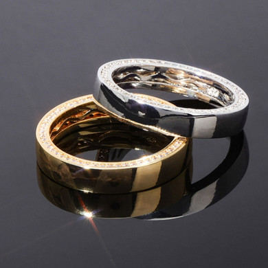 Flooded Ice Circle Stone Solid 925 Sterling Silver 6 Time 14k Gold Bling Rings