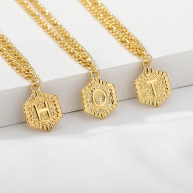 Ladies 14k Gold A-Z Initials Figaro Link Ankle Anklets Bracelet