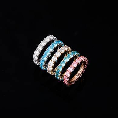 High Fashion Simulate Diamond Personality Flooded Ice Bling Rings