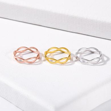 Platinum 18k Gold Rose Gold Stainless Steel Love Infinity Rings