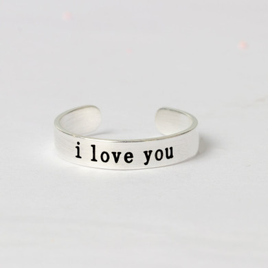 18k Gold Silver Rose Gold Infinite Love I love you Promise Rings