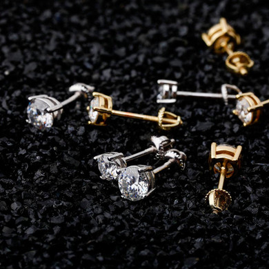 0.1ct - 1ct Flooded Ice Real Moissanite Iced Bling Hip Hop Earrings