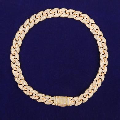 Mens Flooded Ice Street Wear Double GG Link Hip Hop Jewelry Chain Bracelet Set