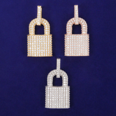 Game On Deadbolt Padlock Street Wear Hip Hop Jewelry Pendant Chain Necklace