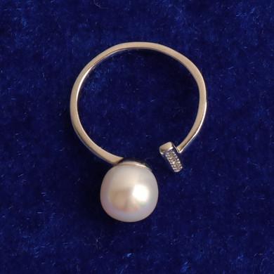 Ladies Street Wear Casual Adjustable Pearl Ring