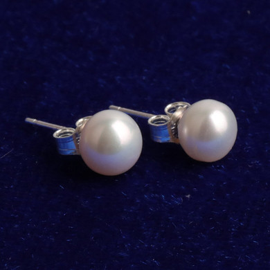 Ladies High Fashion Street Wear Casual Pearl Stud Earrings