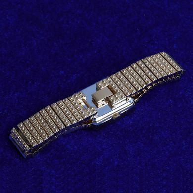 Women's Flooded Ice Clean Classic Square Bezel Bling Street Wear Wrist Watch