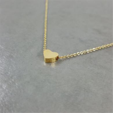 Rose Gold Silver 14k Cute Stainless Steel Heart Necklace Earrings Set