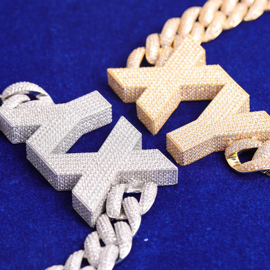 Street Wear Brick City Custom Letters Cuban Link Hip Hop Personalized Chain Necklace