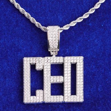 Custom Street Wear Jewelry City Block Flooded Ice 24k Yellow 14k White Gold Initial Pendants