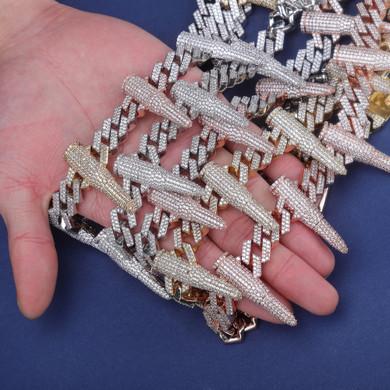 Chopper City Custom Bullet Chain Hip Hop Pendant Chain Necklace