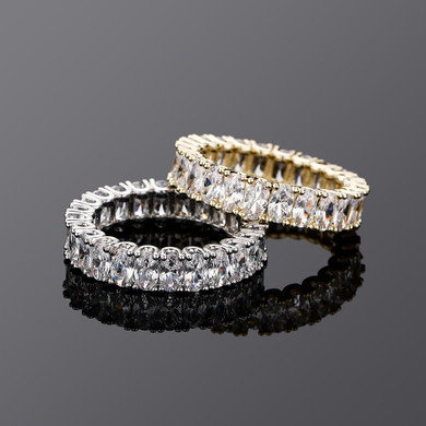 Luxury Ice Cluster Stone four Prong Set Mens Hip Hop Rings