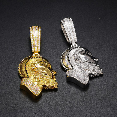 Immortal Nipsey Hustle Hip Hop 14k Gold .925 Silver Bling Iced Pendant Chain Necklace
