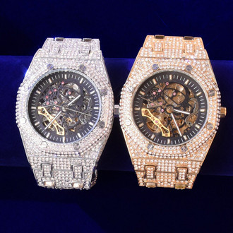 Watch Out For The Iced Out Watch! It Is Manly And Magnificent!