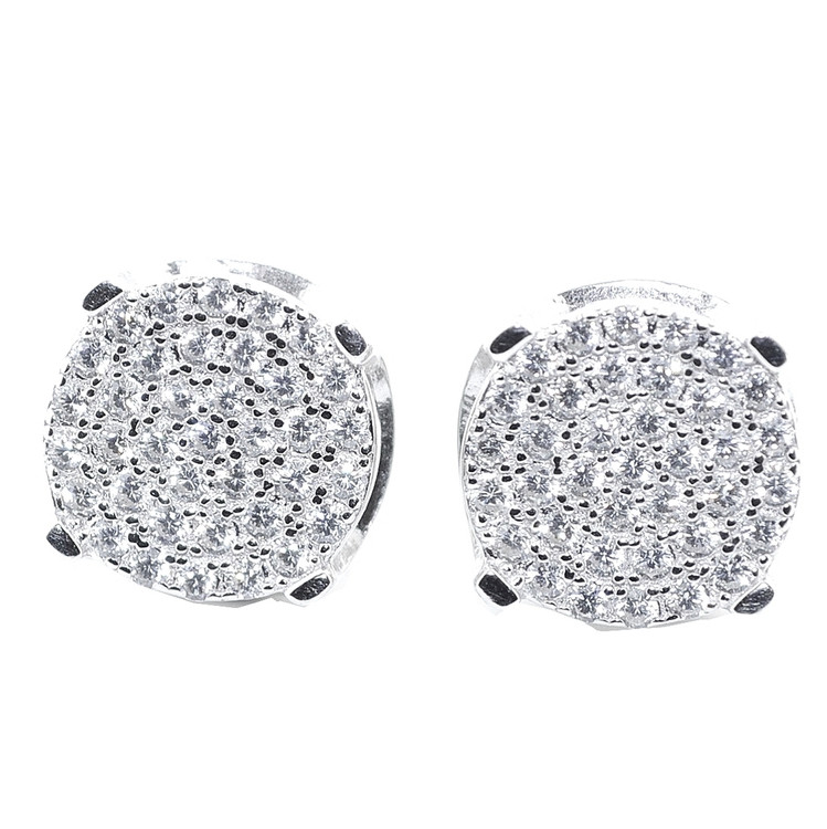 10MM Simulated Diamond Hip Hop Earrings