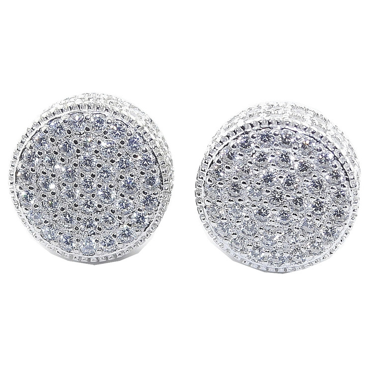 11.5MM Simulated Diamond Iced Out Earrings