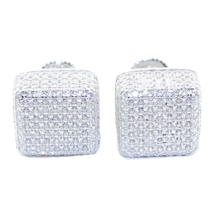 10.5MM Simulated Diamond  Earrings