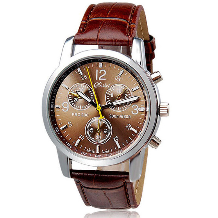 Mens Bold Statement High Luxury Fashion Crocodile Leather Watch