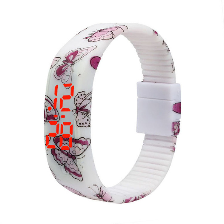 Thin Girl Ultra Sports Silicone Digital LED Bracelet Wrist Watch