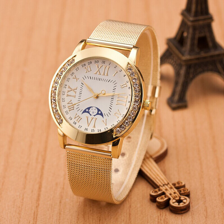 Diamond Bezel Classic Girlfriend Watch