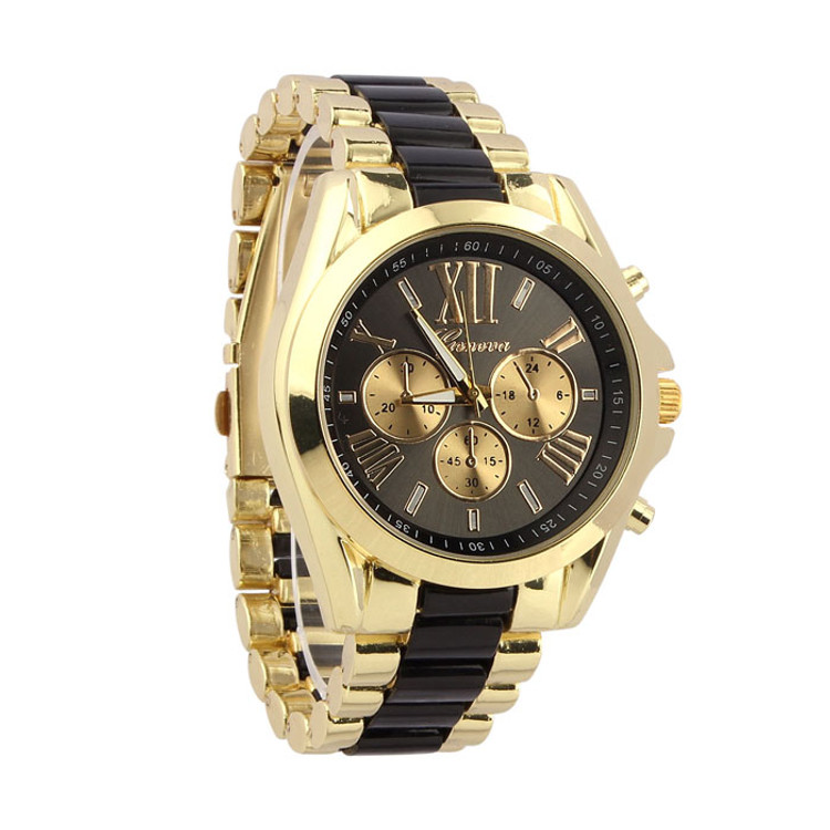 Mens Hip Hop Classic Luxury Bling Stainless Steel Wrist Watch