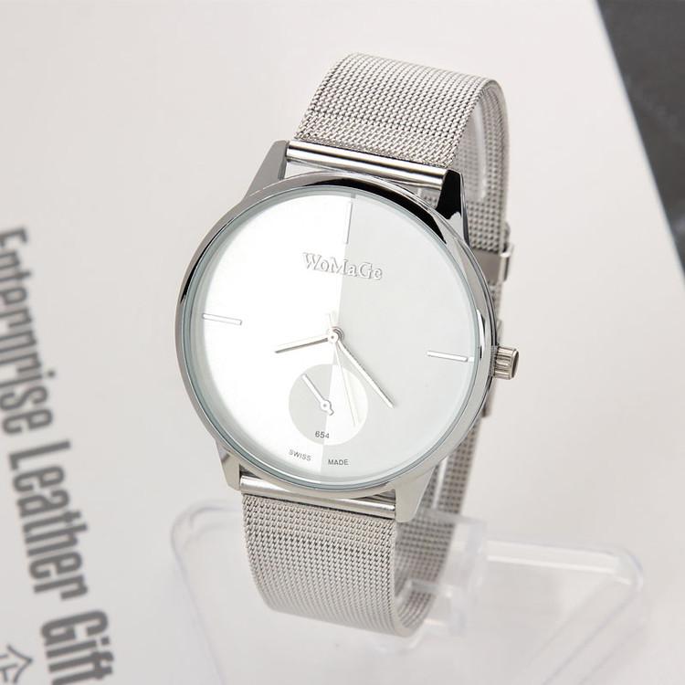 Luxury Fashion Mens Casual Analog Stainless Steel Quartz Watch