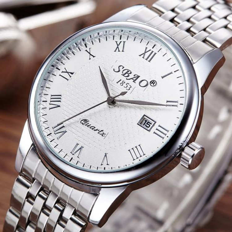 Men's GQ Classic Fashion Stainless Steel Band Analog Wrist Watch