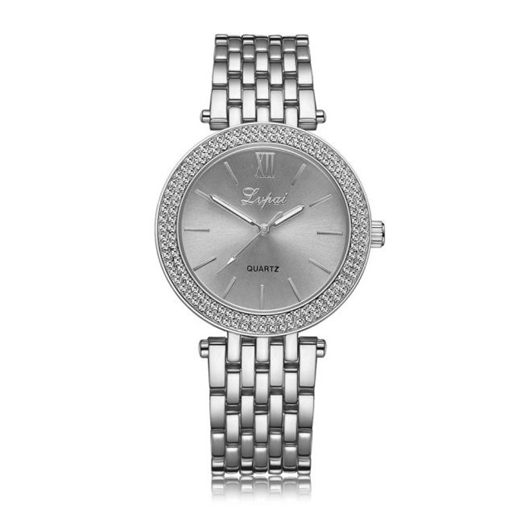 Double Diamond Bezel Watch