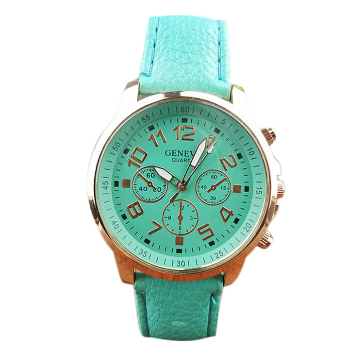 Leather Band Analog Quartz Vogue Wrist Watch Watches