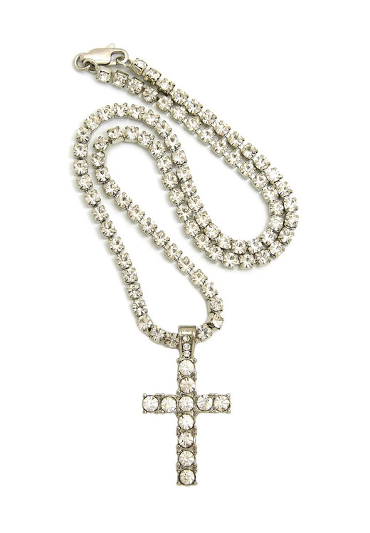 Prong Set Diamond Cz Stone Chain