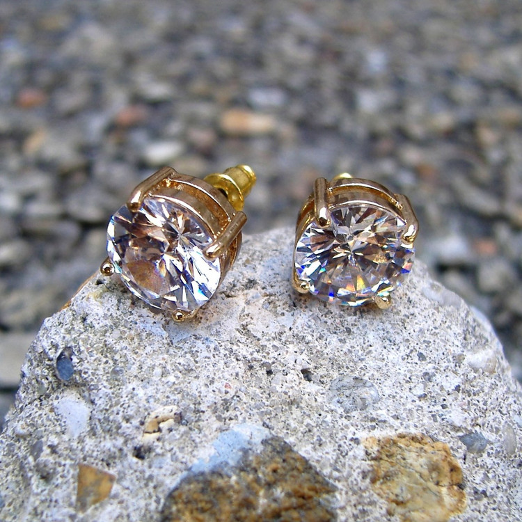 14k Gold 11mm Earrings