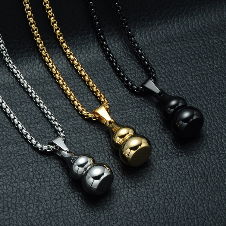 Stainless Steel Gourd Open Locket Wishing Bottle Necklaces