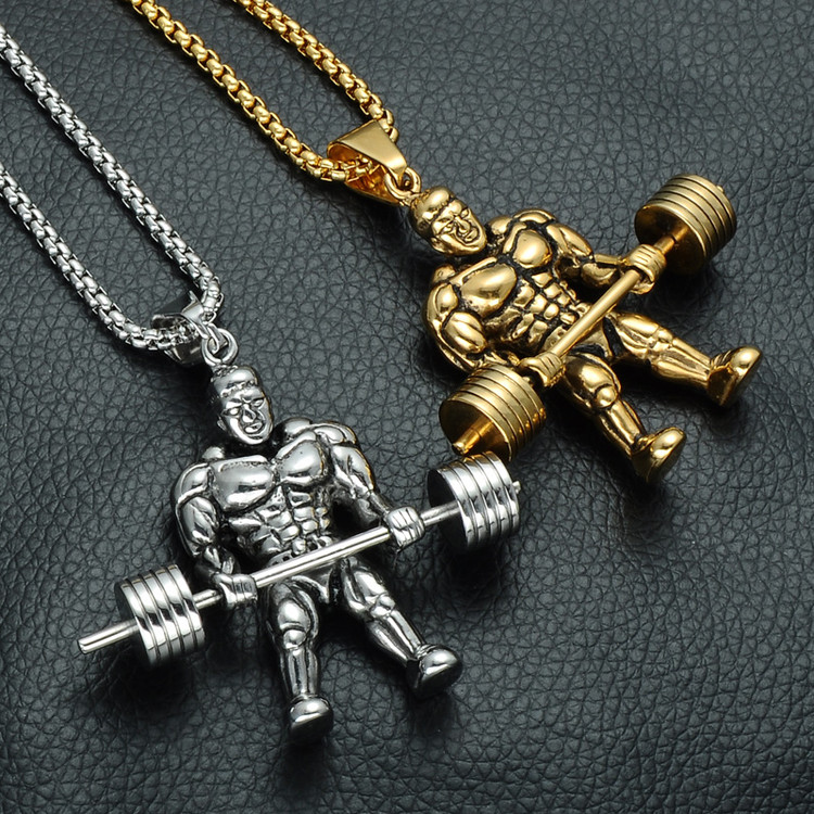 Weight lifters chain necklace
