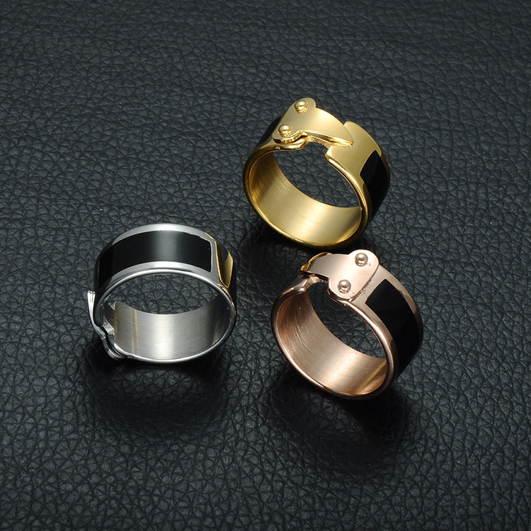 Ladies Arrow Shape Geometric Rose Gold Titanium Stainless Steel Ring