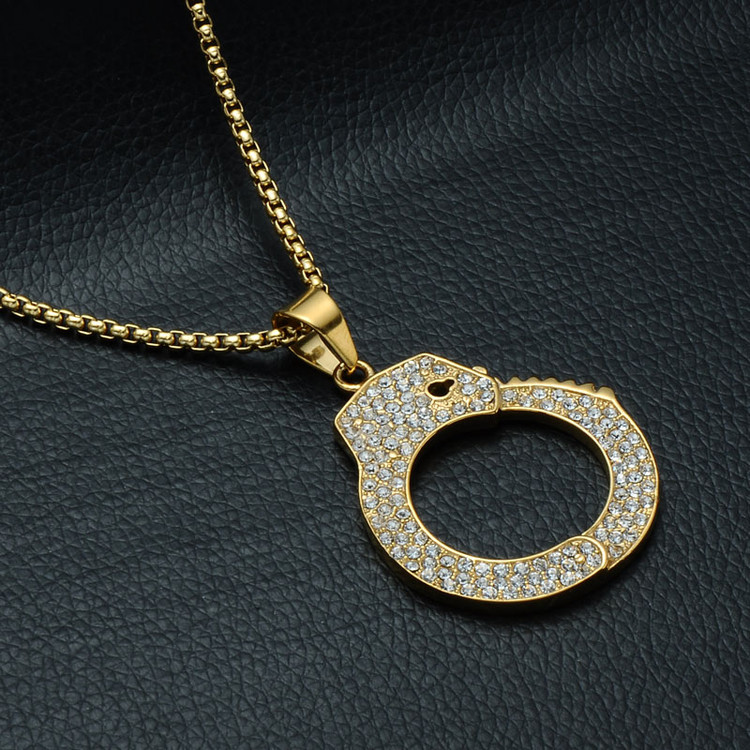 Handcuff Pendant Chain Necklace