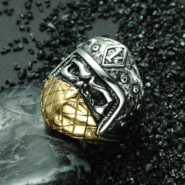 Titanium Stainless Steel Mask Skull Ring