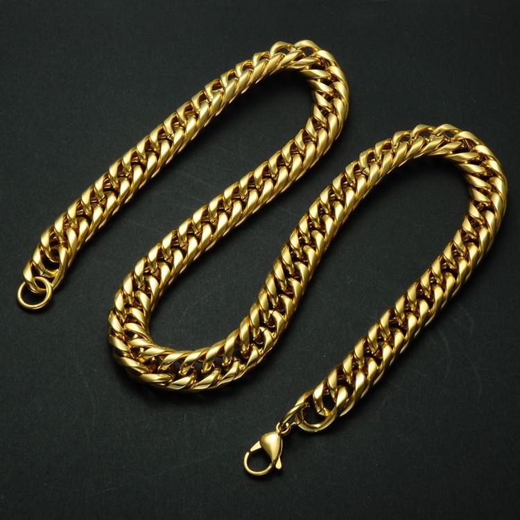 24 Inch Titanium Stainless Steel Cuban Link Chain