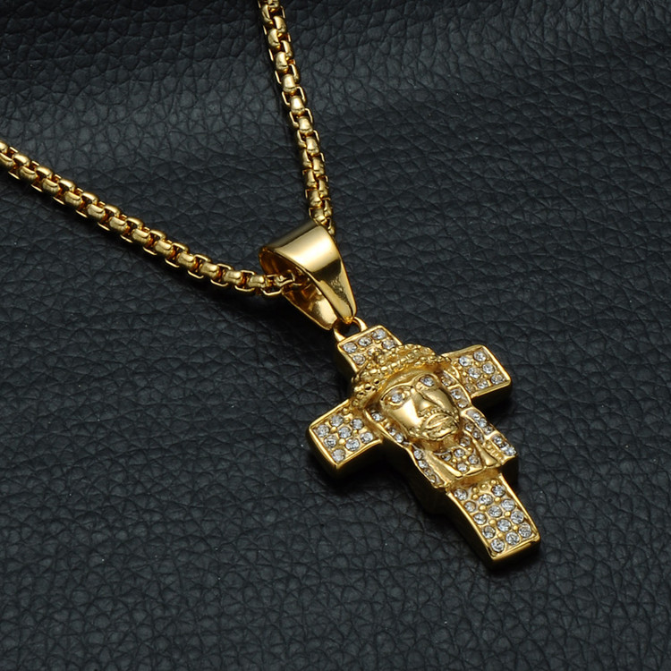 Jesus Piece Cross Pendant