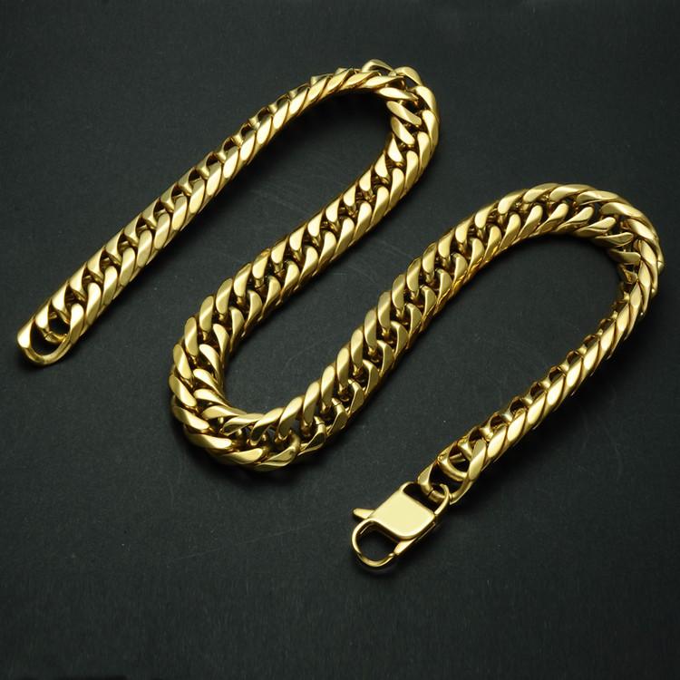 Titanium Stainless Steel Double Rombo Link Chain